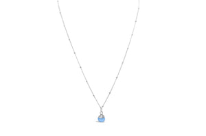 Precious Wraps Necklace Blue Chalcedony