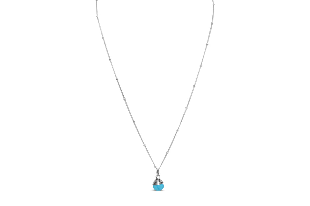 Precious Wraps Necklace Turquoise Howlite