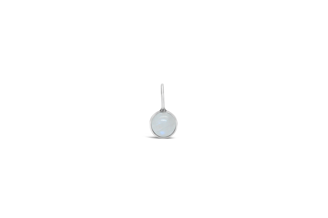 Mini Birthstone Pendent Rainbow Moonstone