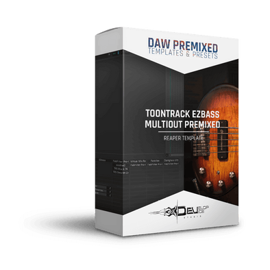 Toontrack EZbass | Reaper Multi-Out Premixed Template | Reaper premixed template