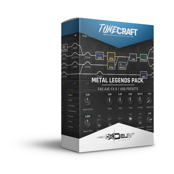 Metal Legends Pack | Fractal Axe-Fx II / AX8 - Develop Device