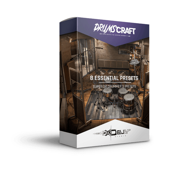 8 Essential Presets Collection | The Rooms of Hansa SDX | Superior Drummer 3 Preset