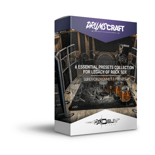 6 Essential Presets Collection for Legacy of Rock SDX | Superior Drummer 3 Preset