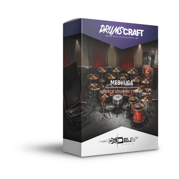 Meshuga | Superior Drummer 3 Preset | DRUMSCRAFT | Superior Drummer 3 Presets | Drums of Destruction EZX, The Metal Foundry SDX