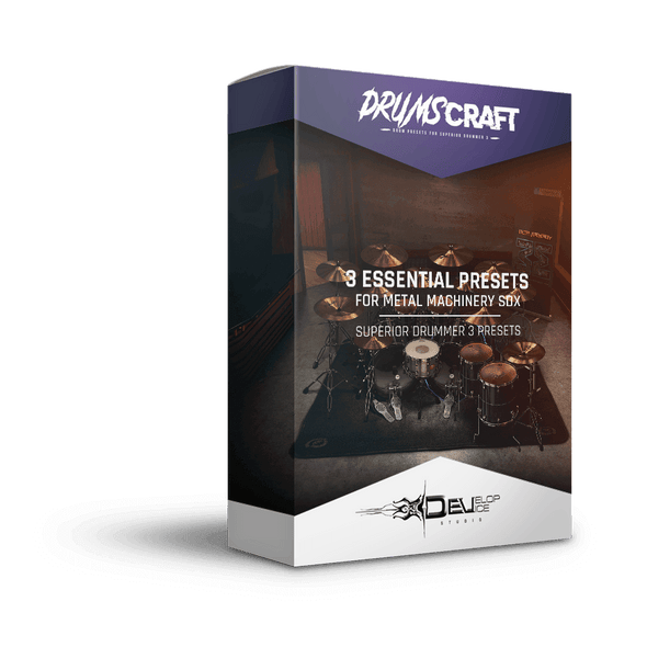 3 Essential Presets Collection for Metal Machinery SDX | Superior Drummer 3 Preset