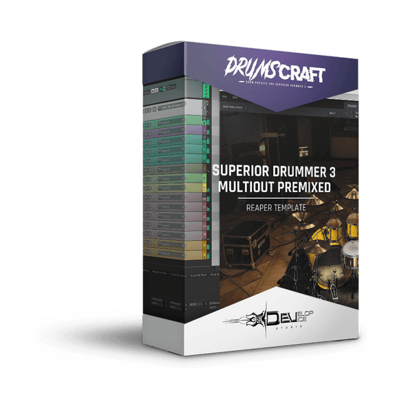 Superior Drummer 3 | Reaper Multi-Out Premixed Template | Reaper premixed template