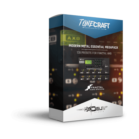 Modern Metal Essential Megapack | 128 presets for Fractal AX8 | TONECRAFT