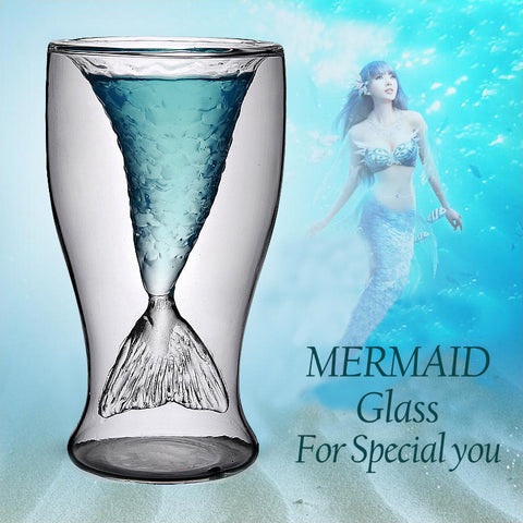 Mermaid Tail Glass Cup