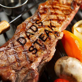 Personalized BBQ Meat Branding Iron with Changeable Letters
