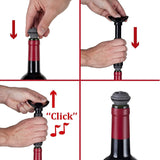 Vacu Vin Wine Saver Pump with 2 Vacuum Bottle Stoppers