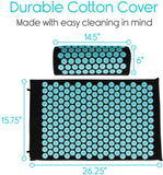 Stress And Pain Relief Acupressure Mat With Certified Eco Made In USA Foam