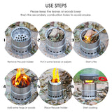 Portable Lightweight Stainless Steel Wood Burning Camping Stove