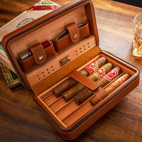 Cohiba Original Leather Travel Cigar Case Humidor Gift Set