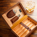 Lubinski Original Leather Travel Cigar Case Humidor