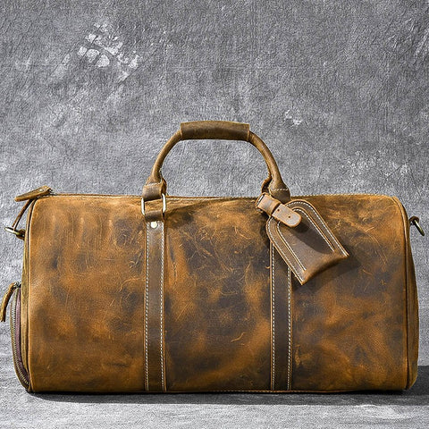 Douglas Genuine Leather Travel Duffle Bag