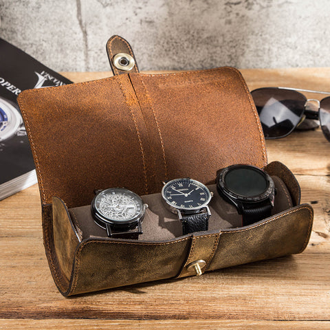 Luxury Leather Watch Roll