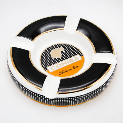 Classical COHIBA Ceramic Round Ashtray