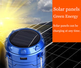 Solar Rechargeable Camping Lantern & Portable Outdoor Handheld Led Flashlight
