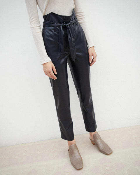 Vegan leather pants by Nanushka