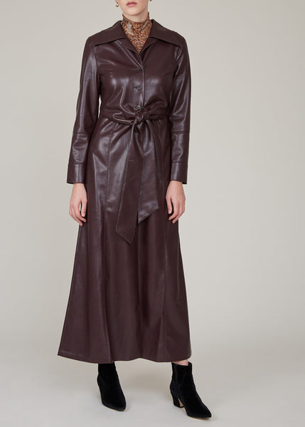 Vegan leather dress by Nanushka