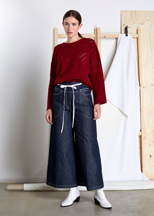 REJINA PYO - Jodie Trousers - dark navy