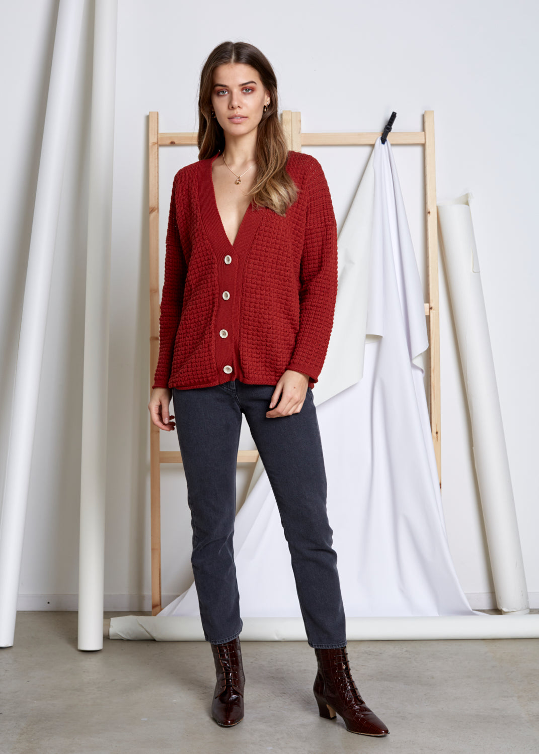 VIVIAN GRAF - Mel Cardigan - rusty red
