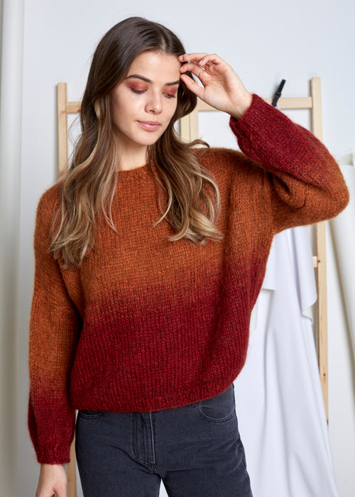 VIVIAN GRAF - Ellie Sweater - Rust orange/fire red