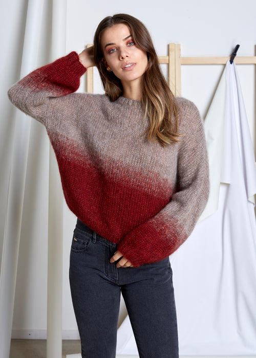 VIVIAN GRAF - Ellie Sweater - Rose/fire red