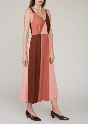 REJINA PYO - Rosa dress - Japanese wool suiting tonal mix