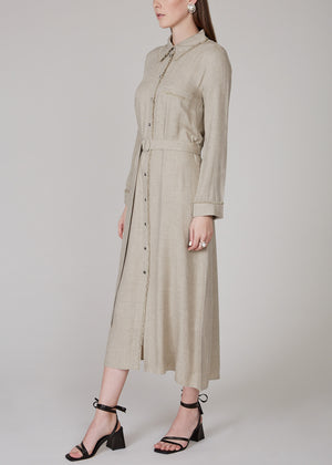 NANUSHKA - Aiden dress - stone melange