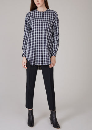 MR. LARKIN - Queenie plaid shirt - navy