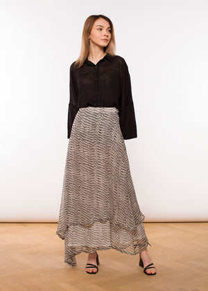 Claudia Nabholz - Valerie Skirt Long - Print