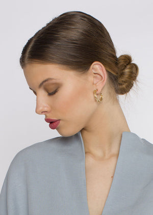 small tangle hoops - bronze