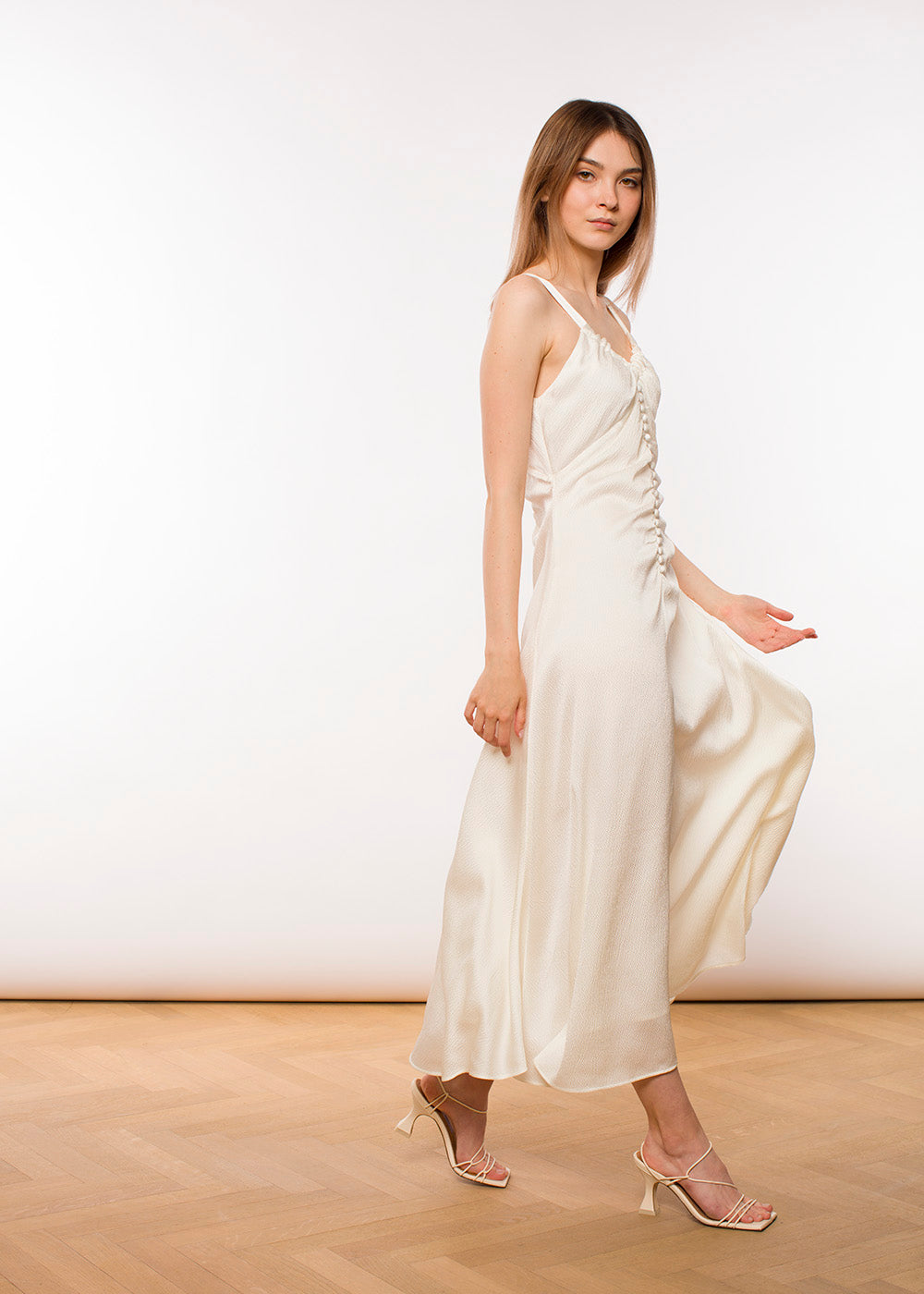Rejina Pyo - Toni dress - Hammered Silk - Ivory