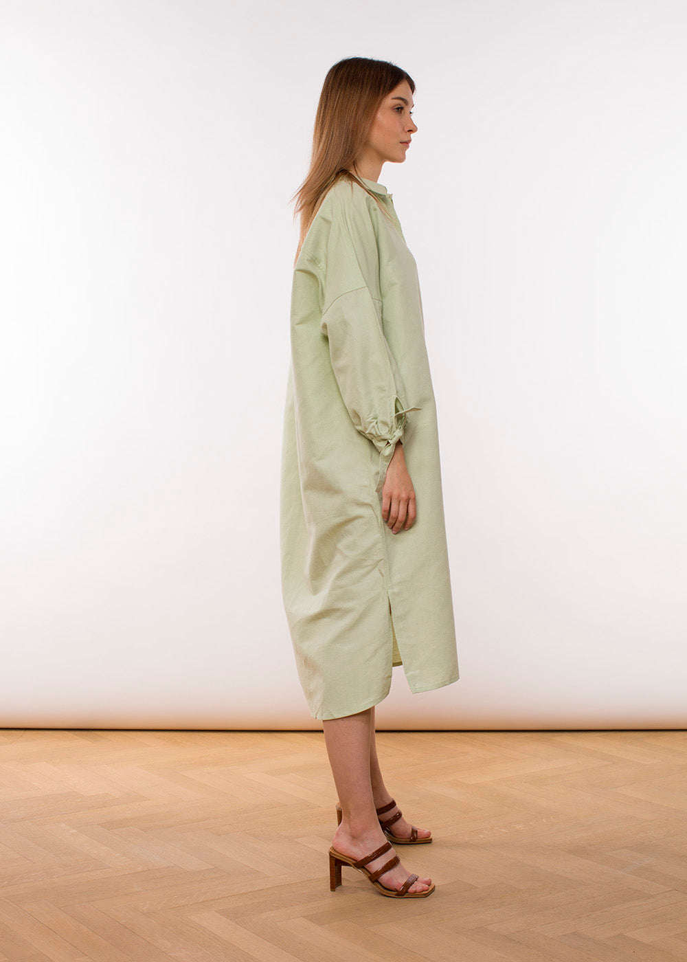 Claudia Nabholz - Mira Blouse Dress - Light Green