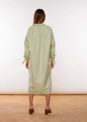 Mira Blouse Dress - Light Green