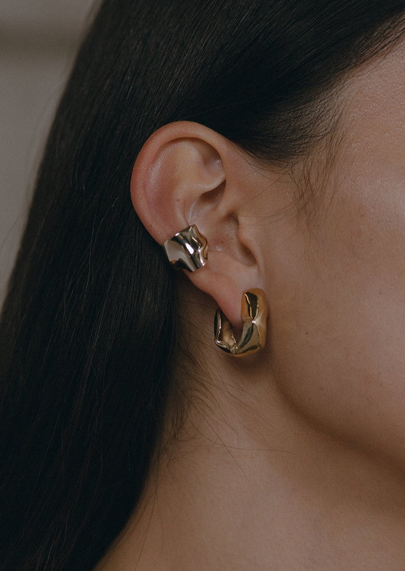 Pleat Ear Cuff -  Bronze