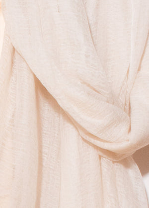 Flywing cashmere scarf - cream