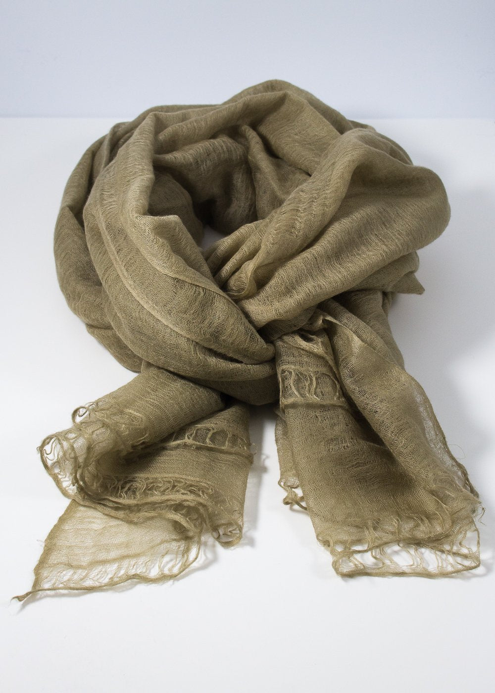 IRIS DELRUBY - Flywing cashmere scarf - pale green