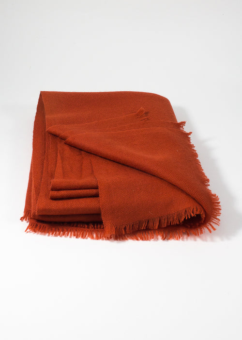 IRIS DELRUBY - plain cashmere scarf - orange