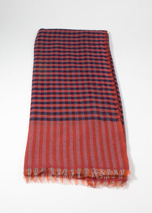Iris Delruby - Madras tiny check - rusty/grey/darkrose/blueberry