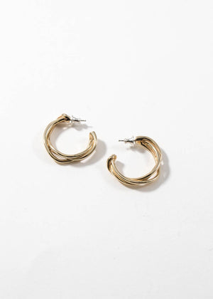FARIS - small tangle hoops - bronze