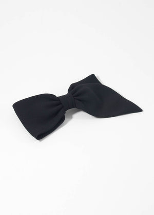 SOPHIE BUHAI - Asymmetrical bow - silk black