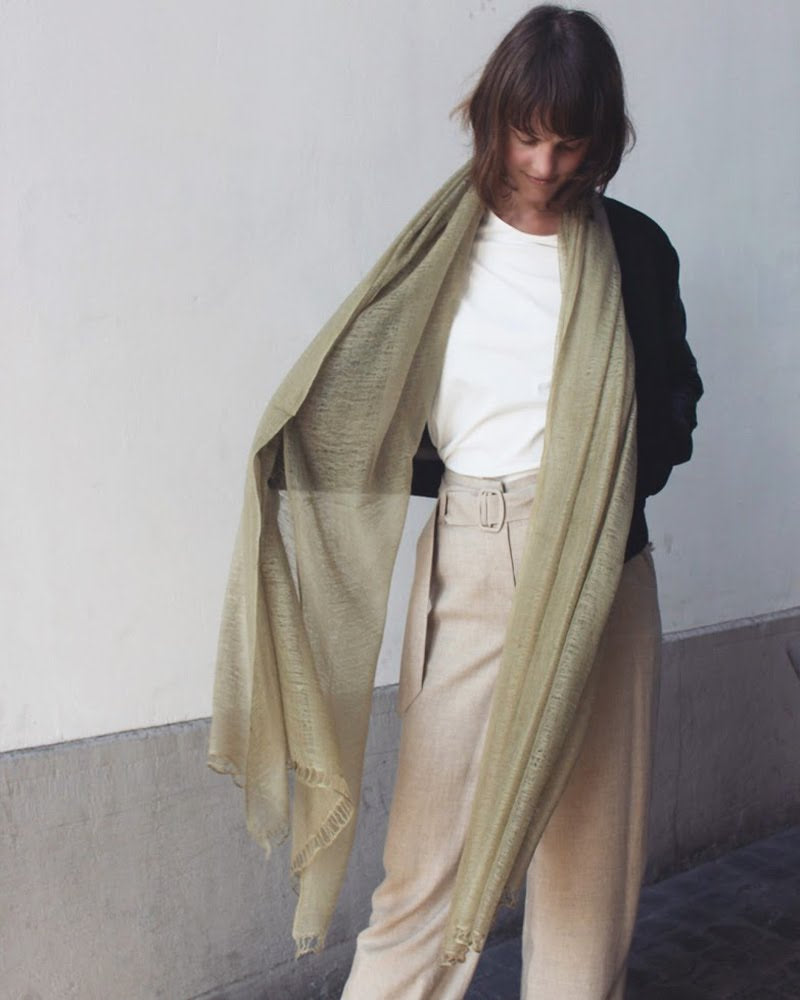 Flywing cashmere scarf - pale green