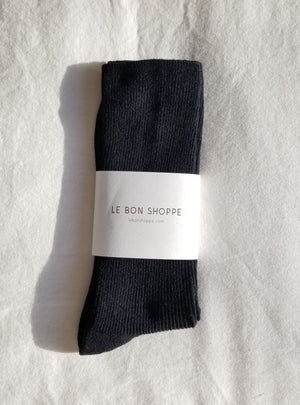 LE BON SHOPPE Trouser Socks - black