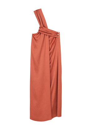 Zena twisted front dress - langoustino