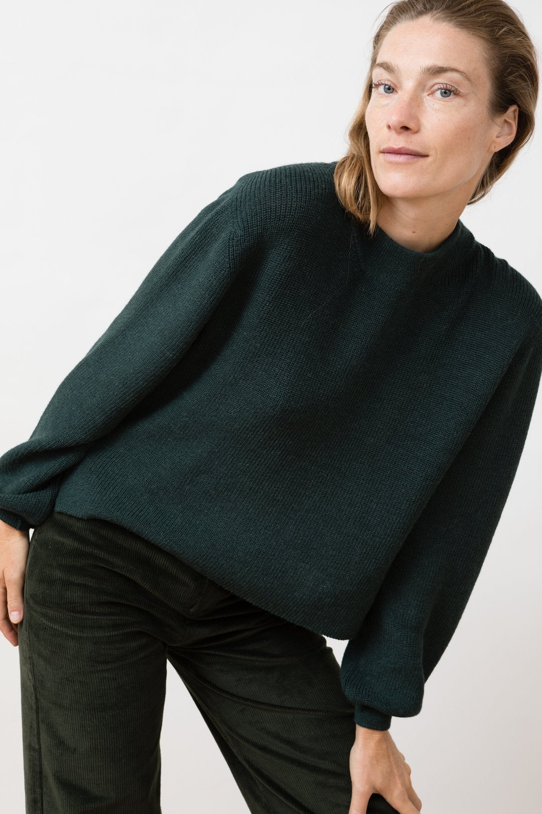 Knit Sweater Helo - Forrest green
