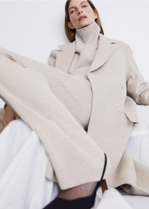 HOUSE OF DAGMAR - Anissa long Coat - Oat