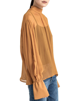 House of Dagmar - Mie top - caramel