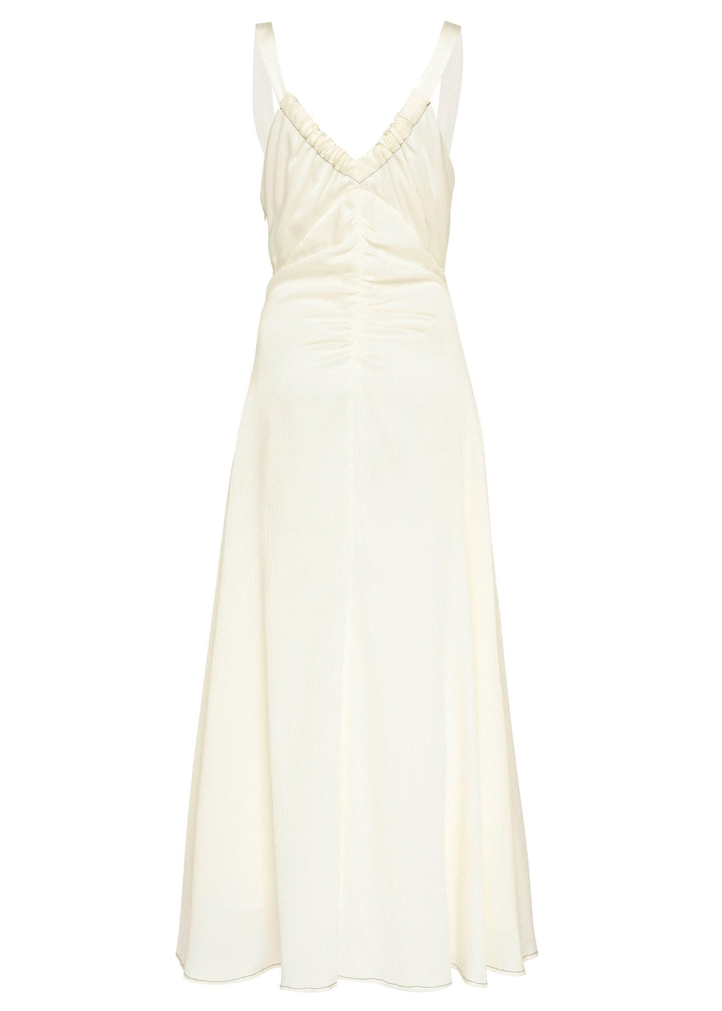 Toni dress - Hammered Silk - Ivory